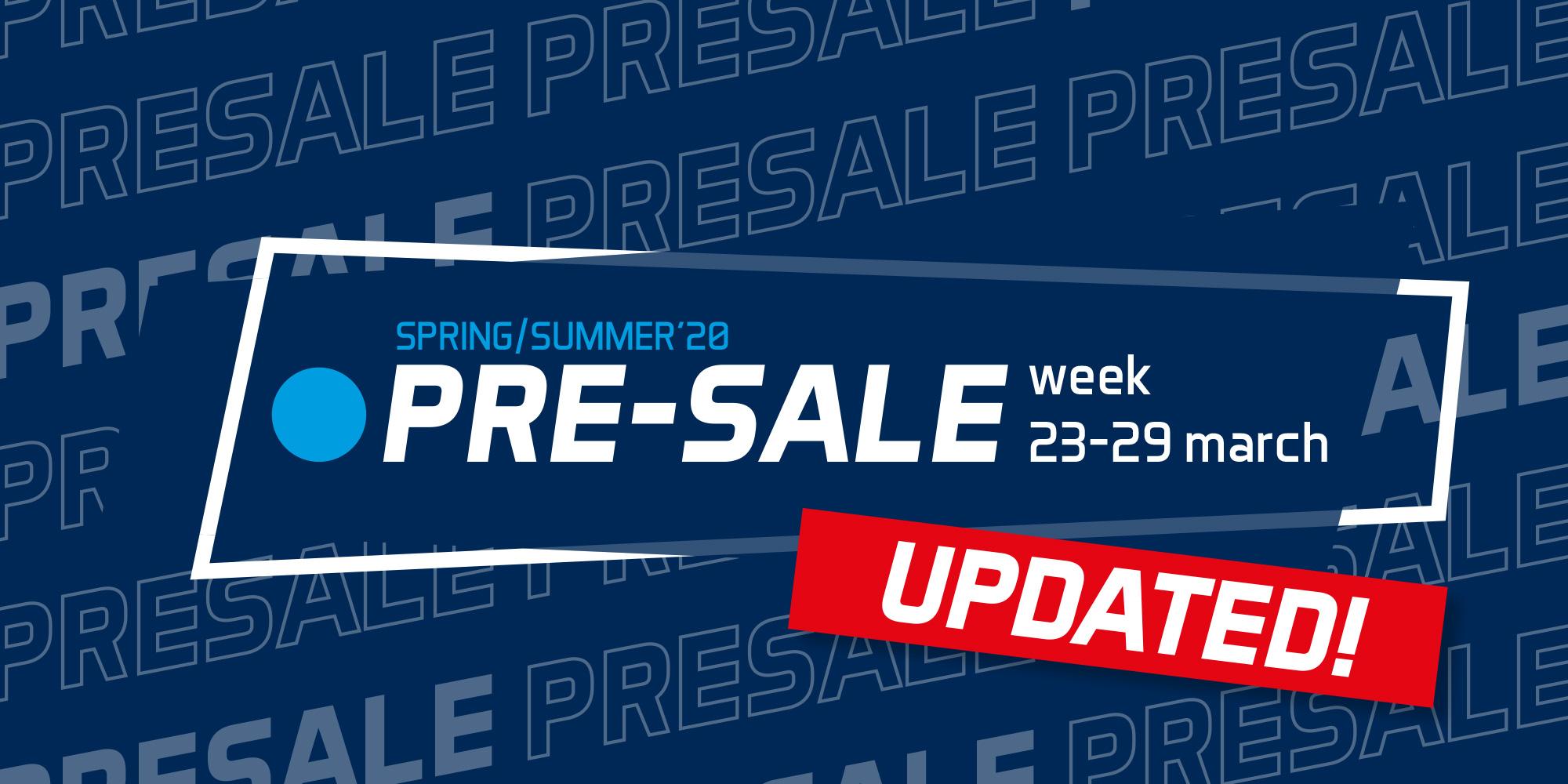 pre sale update